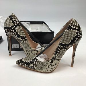 NWT pretty little thing snake skin heels